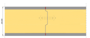 Thermopanel Væg detaljer